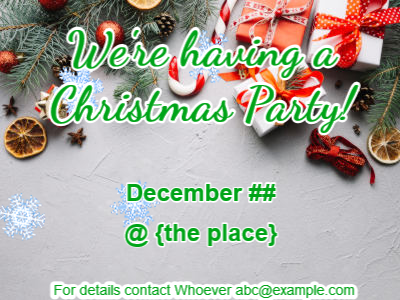 Make a gif: christmas-invite