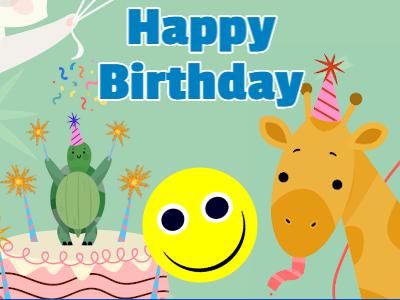 Happy Birthday Spinning Emoji