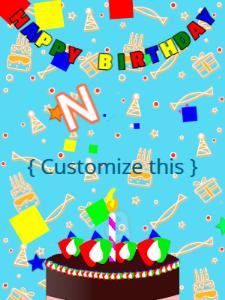 Happy birthday cake and celebration