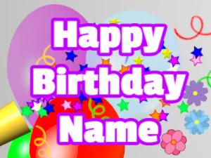 Horn, stars, balloon, block, white, purple