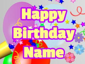 Horn, stars, balloon, block, yellow, purple