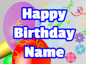 Horn, noodles, balloon, block, white, blue