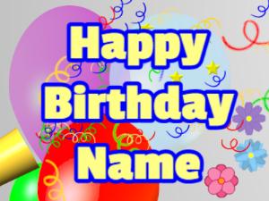Horn, noodles, balloon, block, yellow, blue