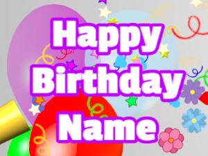 Horn, confetti, balloon, block, white, purple
