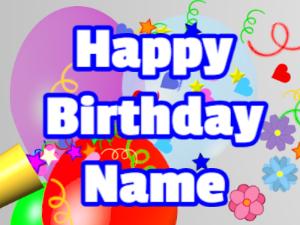 Horn, confetti, balloon, block, white, blue