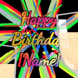 Champagne Fireworks Birthday Toast