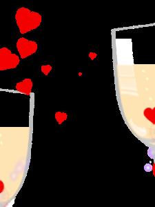 Happy Birthday Champagne Hearts