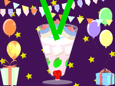 Build a birthday milkshake