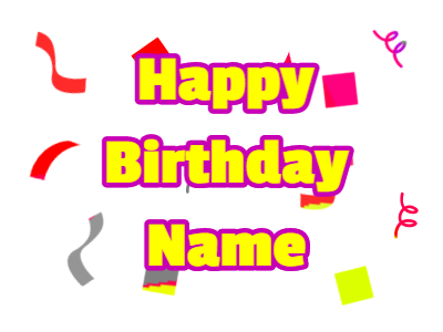 Birthday greeting with colorful confetti