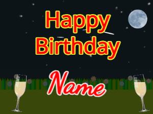 Meteor Shower birthday greeting