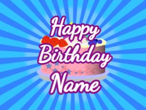 Sunburst gif with birthday message