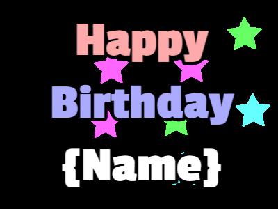 Happy Birthday Pastel Stars