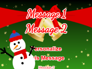 Snowman Christmas Card with Ringing Bells