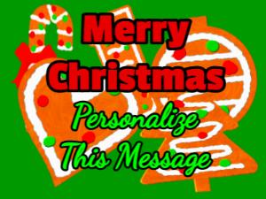 Christmas Card and Christmas Cookies