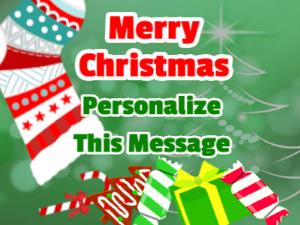 Christmas Stocking Christmas Card