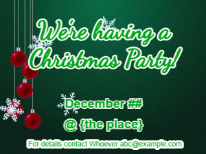 Make gif: christmas-invite