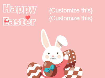 Pink Easter Card GIF with Bunny