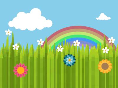 Rainbow Meadow Good Morning