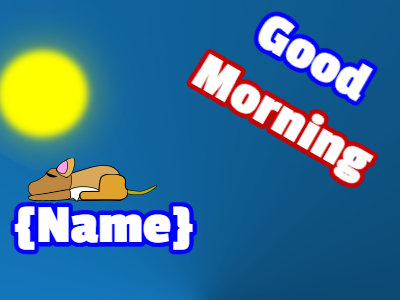 Good Morning Wake Up Puppy
