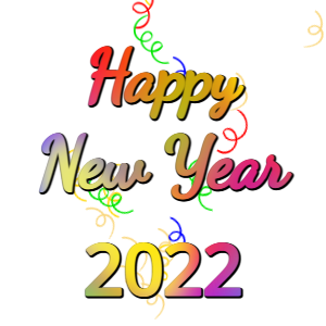 New Year sticker for 2021