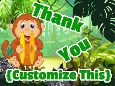 Cymbal banging monkey says thank you