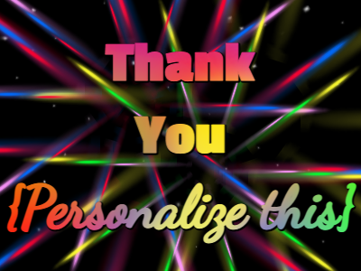 Thank You with shooting star gif