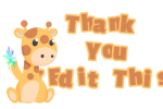 Thank You Giraffe