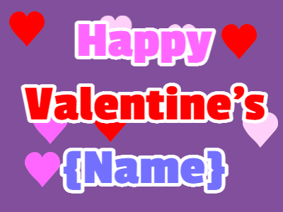 Valentines Hearts VDay Card