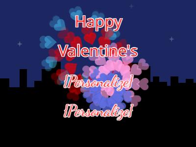 Valentine Heart Fireworks